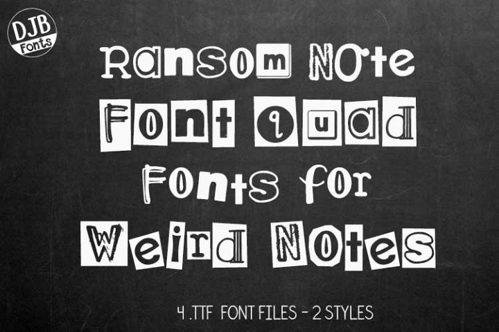 DJB Ransomed Font Bundle