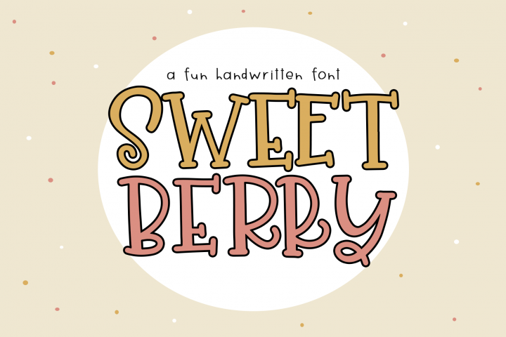 Sweet Berry - A Fun Handwritten Font