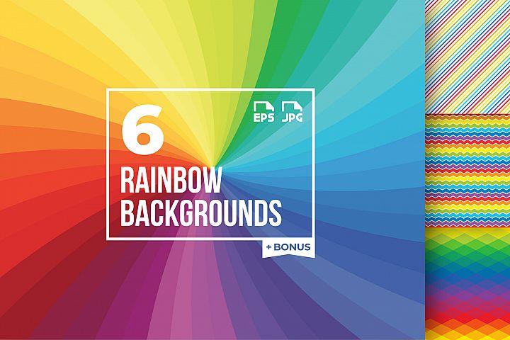 6 rainbow backgrounds