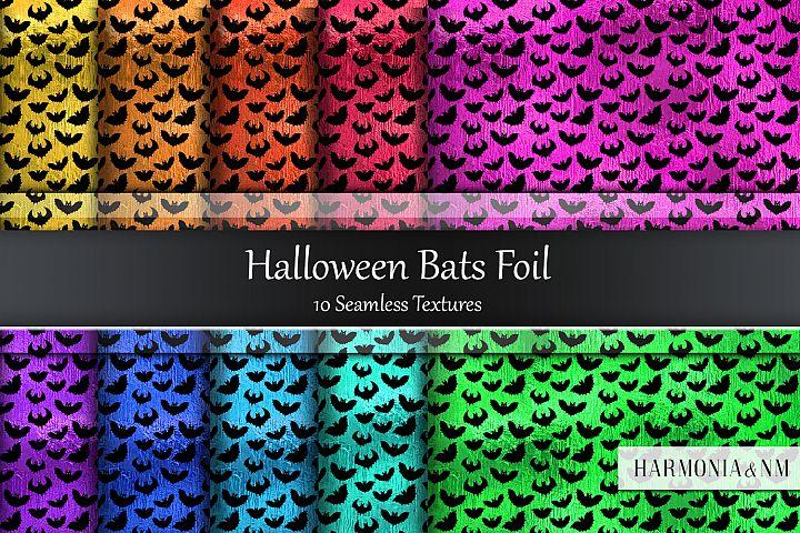 Halloween Bats Foil Seamless Textures