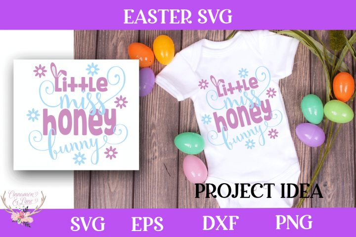 Easter SVG - Little Miss Honey Bunny