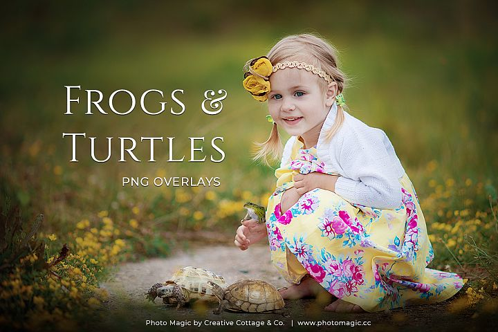 Frogs & Turtles Fantasy Animal Photo Overlays