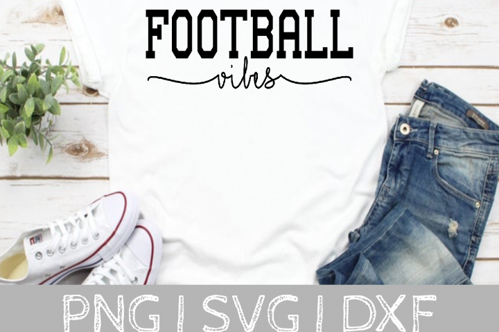 Football Vibes SVG Cut File