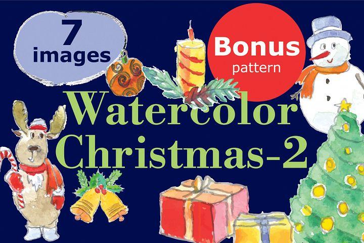 Watercolor Christmas-2bonus!