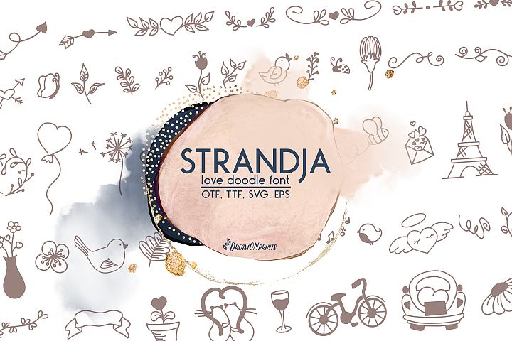 Strandja - Love Doodle Font