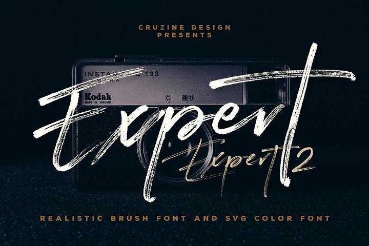 Expert Brush & SVG Font