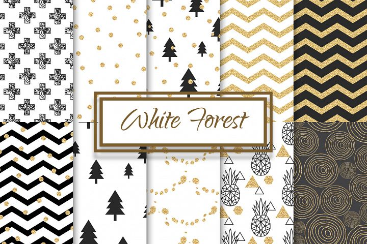 Abstract White Forest Patterns
