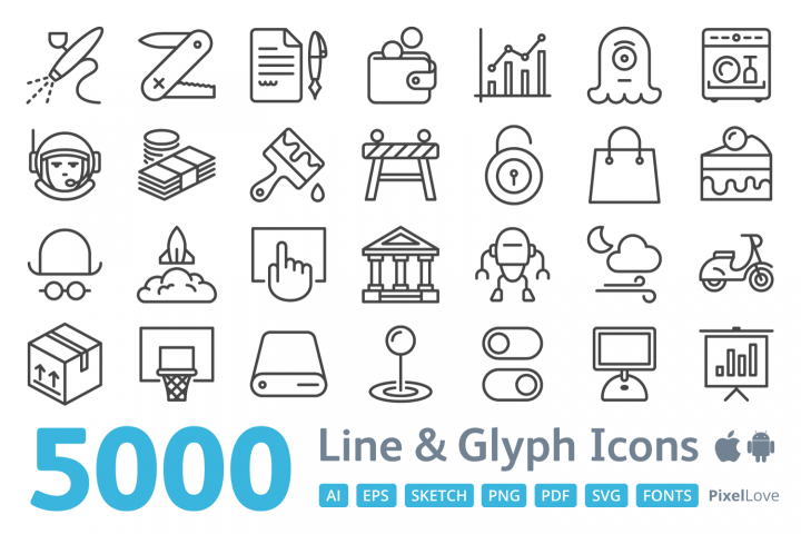 5000 iOS Icons - PixelLove