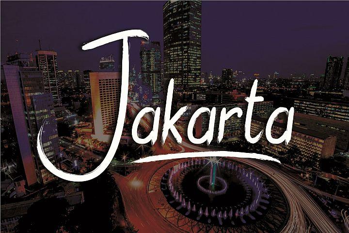 Jakarta Brush Font