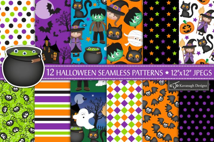 Halloween digital papers, Halloween patterns -P13