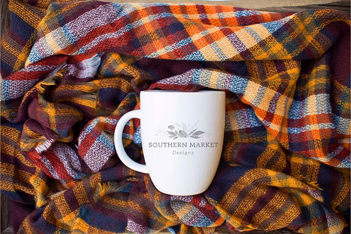 Fall Blank Coffee Mug Mock Up Photo Stock Photography