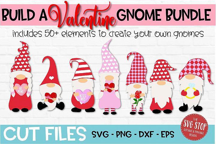 Build a Valentine Gnome Bundle SVG, PNG, DXF, EPS