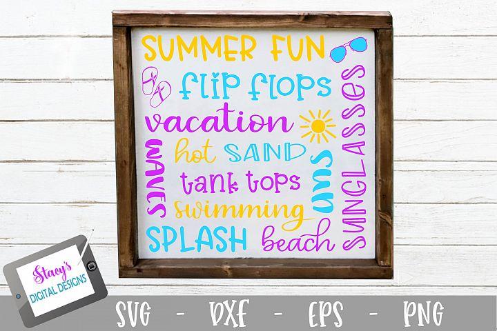 Summer Subway Art SVG - Summer SVG