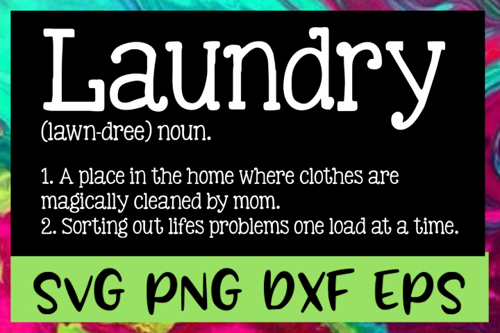 Laundry Definition SVG PNG DXF & EPS Design Files