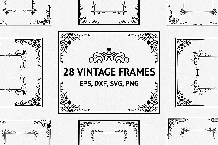 28 Vintage Ornate Frames