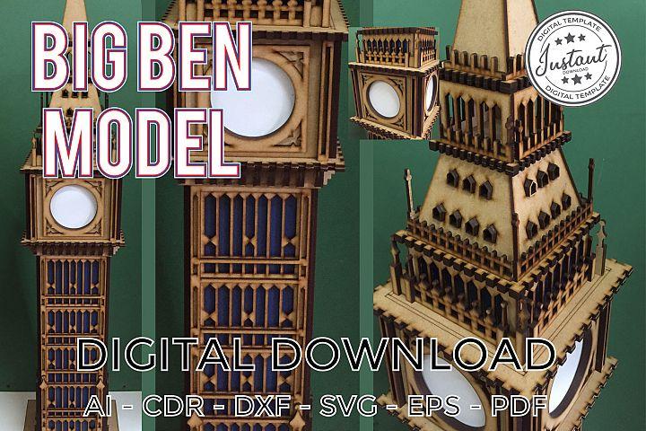 Big Ben laser cut vector plans