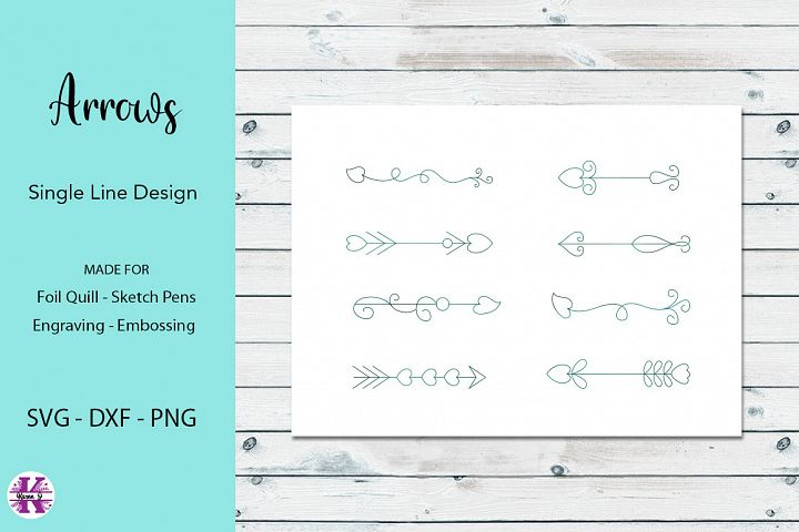 Arrows SVG for Foil Quill|Single line Designs
