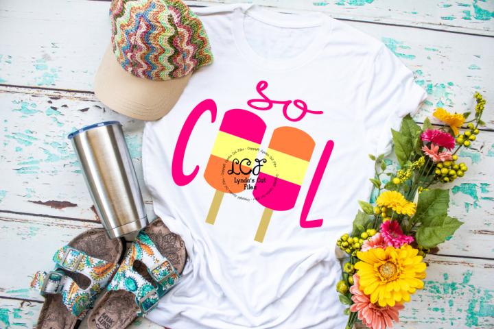 So Cool Summer Shirt//Summer//SVG//DXF//EPS