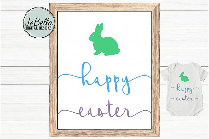 Happy Easter SVG and Printable Minimalist Design