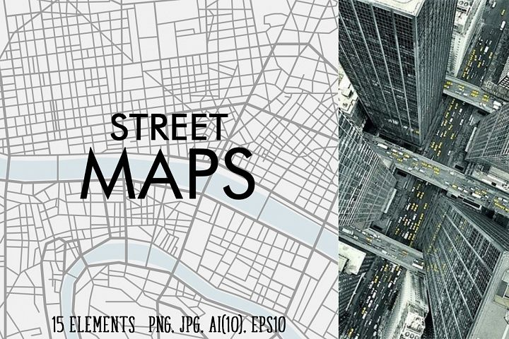 Street maps illustrations