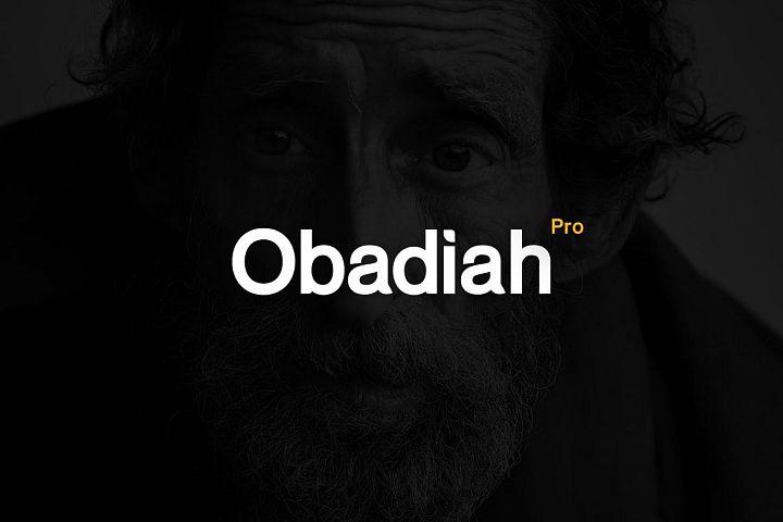 Obadiah pro Modern Typeface WebFont
