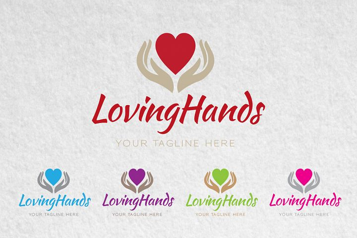 Love Heart Hands Logo