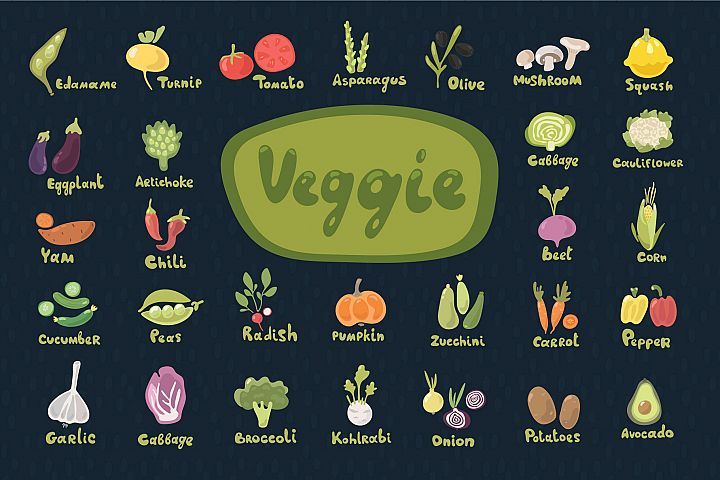 Veggie - Vector Set