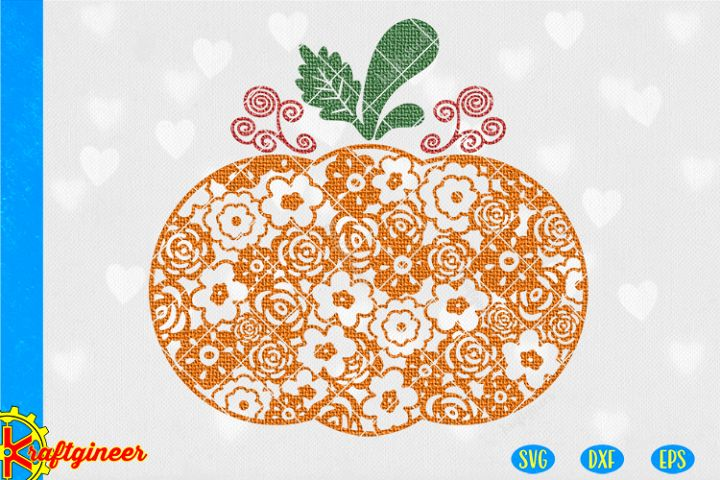 Floral Pumpkin SVG | Fall SVG | Halloween SVG