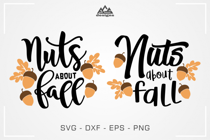 Nuts About Fall Svg Design