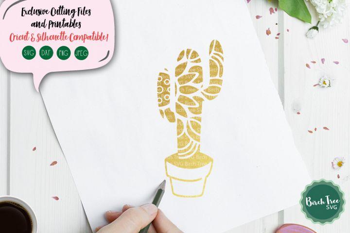 Cactus Mandala Svg, Cactus Svg Cut File, Cactus Decal Design