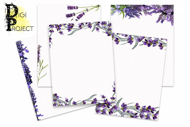 Printable Notes Pages Lavender Notes Pages