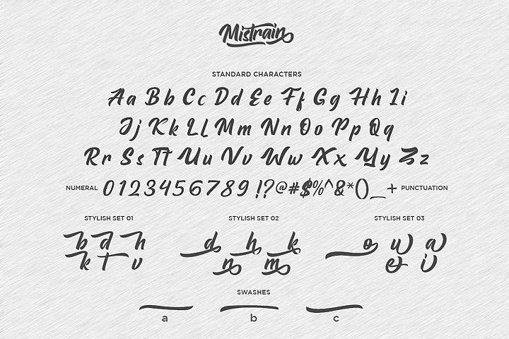 Mistrain Modern Hand Lettering example image 3
