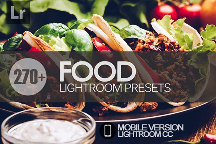270 Food Lightroom Mobile bundle Presets