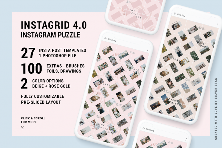 InstaGrid 4.0 - Instagram Puzzle Template - Grid Template