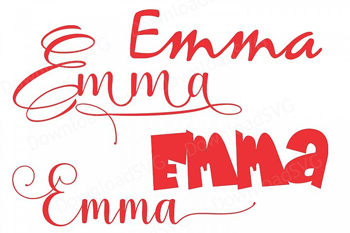 SVG PNG cutting files template Girl Name Emma Vector