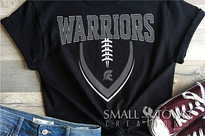 Warriors Football, Team, Sports, Logo, PRINT, CUT & DESIGN