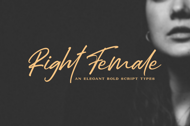 Right Female / Elegant Bold Script