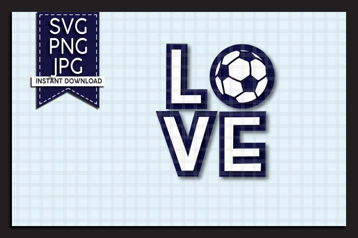NEW! Layered LOVE Soccer Ball SVG Cut File