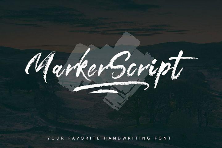 MarkerScript Font