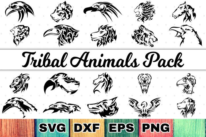 Tribal Animals SVG Cut Files Bundle