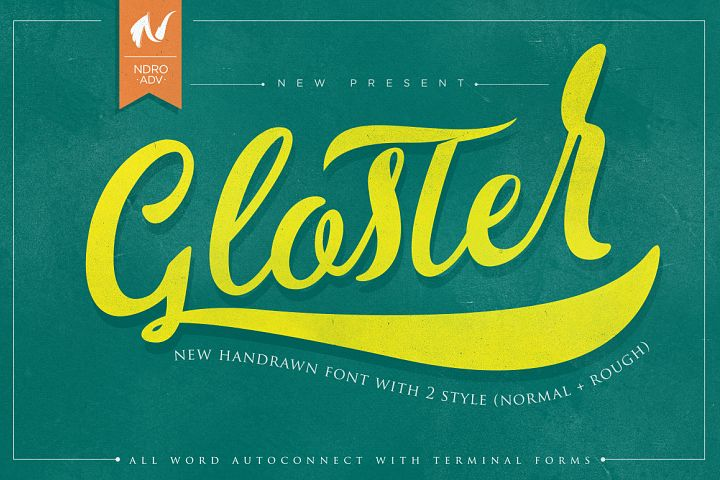 Gloster Typeface example image 1