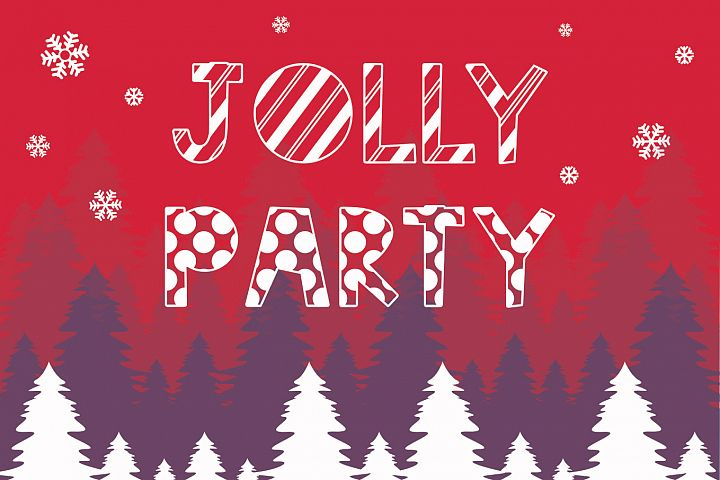 Jolly Party - A Christmas Font