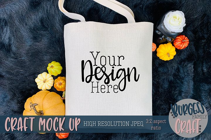 Halloween Treat Bag pumpkins Craft mock up |High Res JPEG