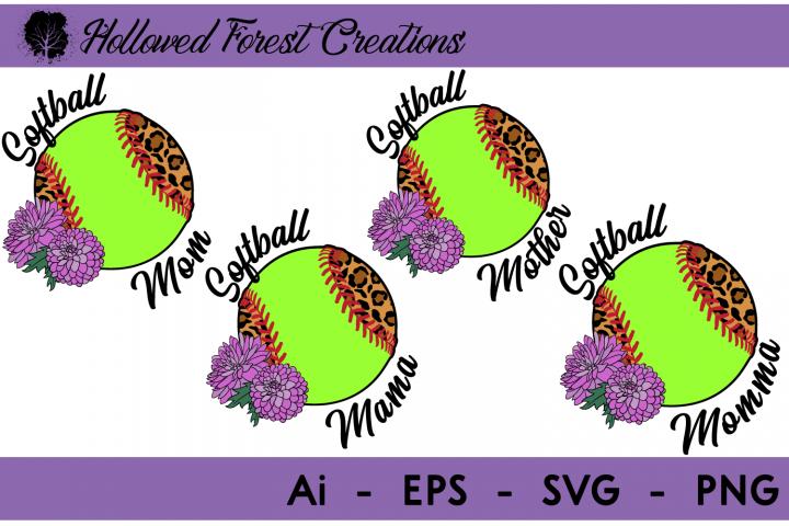 Leopard Softball Mom Bundle
