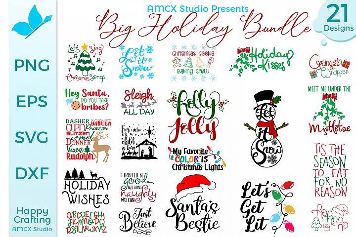Big Holiday Bundle - 21 Christmas Themed Designs