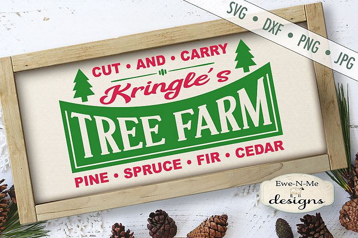Kringles Tree Farm - Christmas - Retro Christmas - SVG DXF