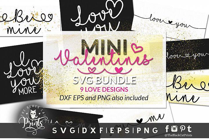 Mini Valentines bundle SVG DXF EPS PNG Love bundle cut files