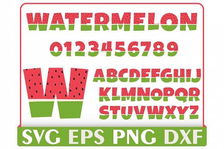 Watermelon Alphabet Letter Svg, Instant Download, Cut File