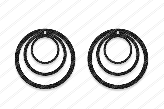 Round Earrings svg, Jewelry svg, leather jewelry, Cricut