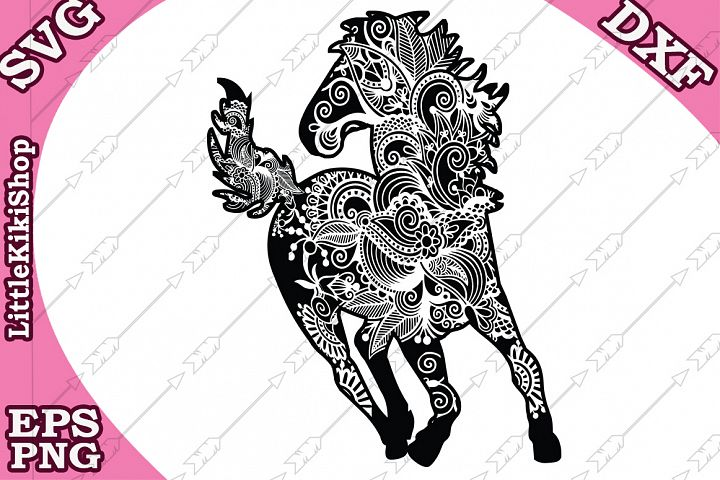 Zentangle Horse Svg,Mandala Horse Svg, Zentangle animal Svg